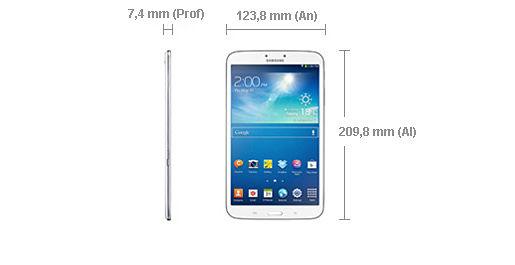 Samsung Galaxy Tab 3 8 Dimensiones