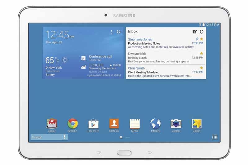 aplicaciones e interfaz de la tablet samsung galaxy tab 4 10 1
